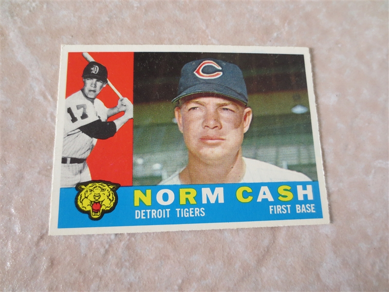 1960 Topps Norm Cash baseball card #488 Very nice condition!