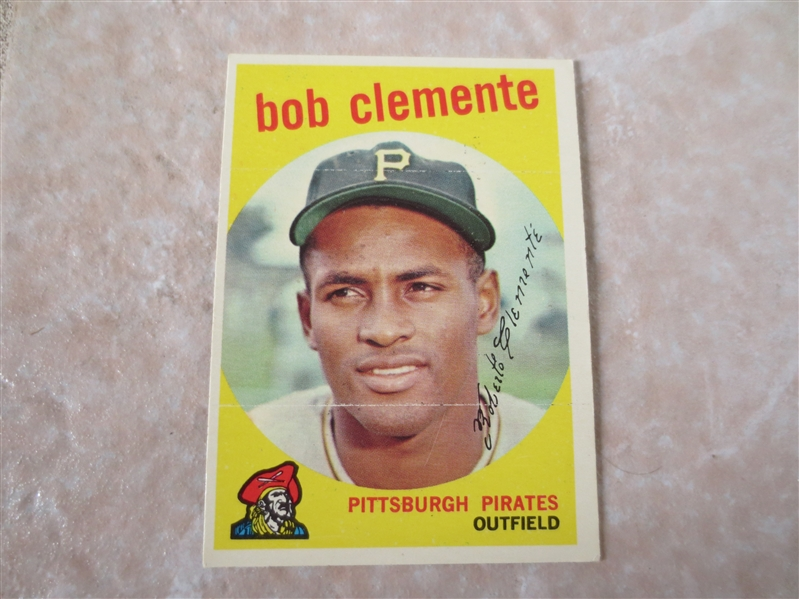 1959 Topps Bob Clemente baseball card #478 in very nice condition!   2