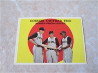 1959 Topps Corsair Outfield Trio Roberto Clemente #543  baseball card A beauty!
