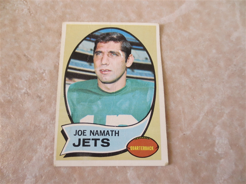 1970 Topps Joe Namath football card #150