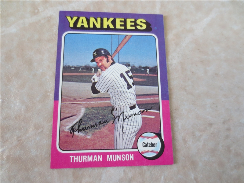 1975 Topps Thurman Munson baseball card #20 in super condition