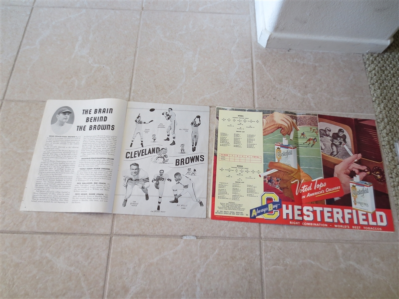 (2) Los Angeles Dons AAFC Pro Football programs vs. 49ers; Browns