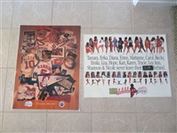 1999 Los Angeles Clipper Last Game Ever at Sports Arena poster plus 1995 Clipper Girls poster