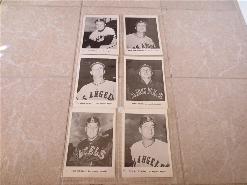 1961 Los Angeles Angels 1st year ever Jay Picture Pack complete set of 12--has writing