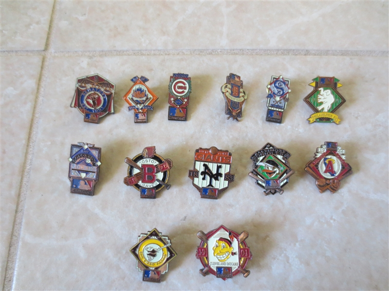 (13) 1990's Baseball Limited Edition Team pins