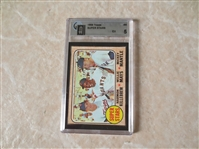 1968 Topps Super Stars baseball card #490 graded GAI 5 excellent Mantle, Mays, Killebrew