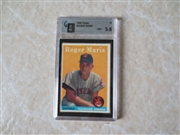 1958 Topps Roger Maris rookie baseball card #47 graded GAI vg+ 3.5