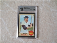 1968 Topps Mickey Mantle baseball card #280 graded GAI vg+ 3.5