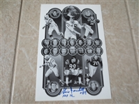 "Autographed Gino Marchetti Baltimore Colts sheet 10"" x 7""  Hall of Famer 1972"