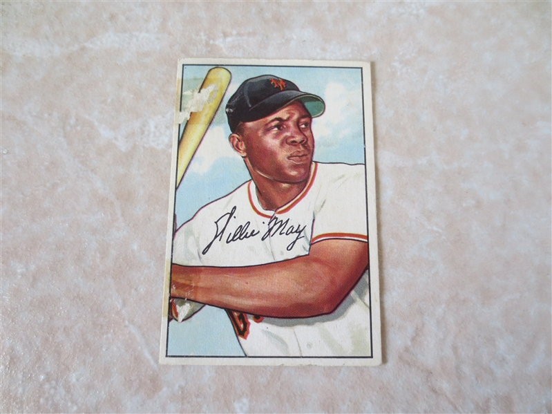 1952 Bowman Willie Mays baseball card #218 in affordable condition