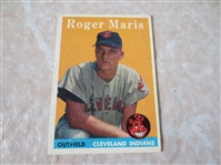 1958 Topps Roger Maris rookie baseball card #47