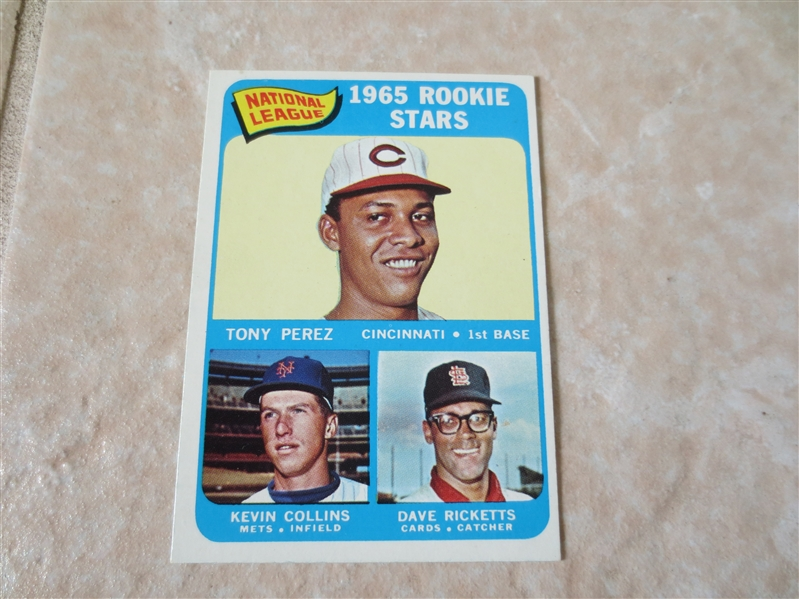 1965 Topps Tony Perez rookie baseball card #581   A BEAUTY!