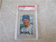 1951 Bowman Whitey Ford PSA 3 vg baseball card #1