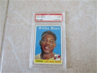 1958 Topps Willie Mays PSA 5 excellent baseball card #5