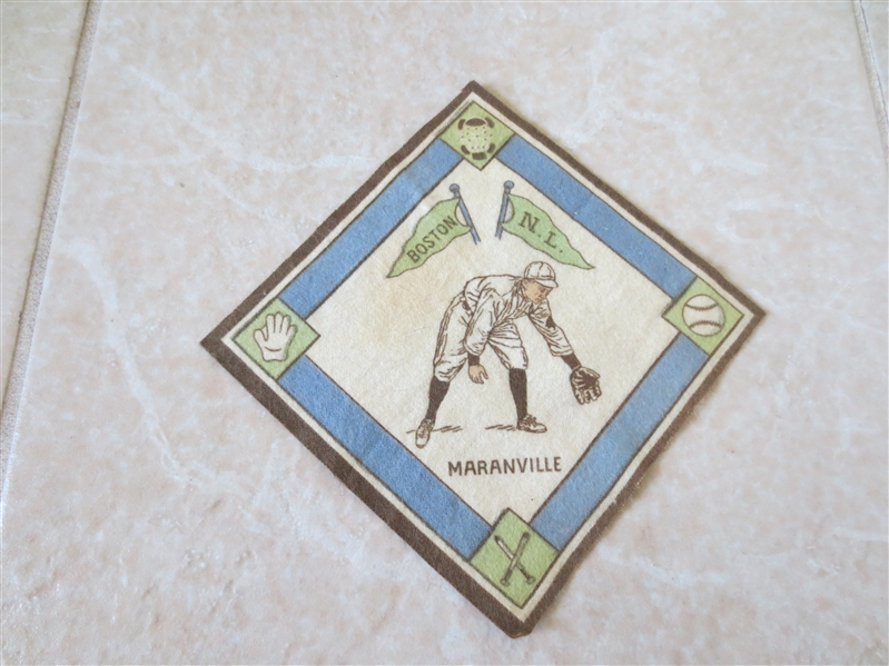 1914 B18 baseball blanket Maranville white infield Hall of Famer