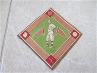1914 B18 baseball blanket Frank Chance green infield Hall of Famer