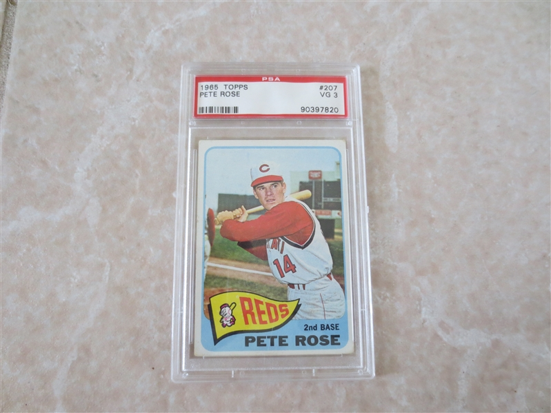 1965 Topps Pete Rose PSA 3 vg baseball card #207 in affordable condition