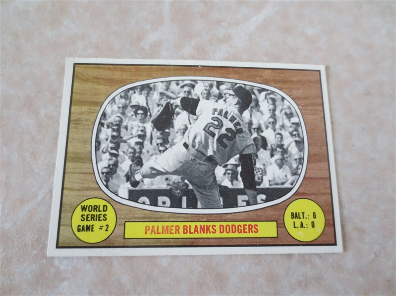 1967 Topps World Series Game #2 Jim Palmer baseball card #152