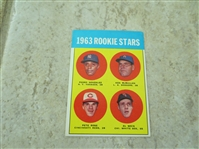 1963 Topps Pete Rose rookie baseball card #537 in affordable condition!