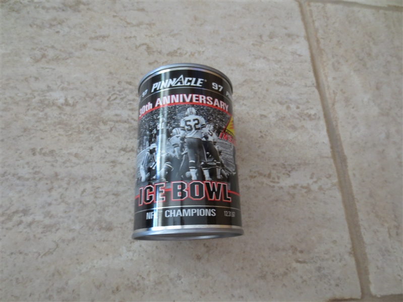 1997 30th Anniversary Ice Bowl Can + 1977 Don Hutson card #25