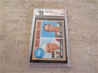 (2) 1968 Topps Johnny Bench rookie GAI Graded baseball cards #247 in affordable condition