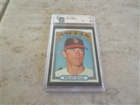 (2) Affordable 1972 Topps Nolan Ryan and 1970 Topps Bench GAI graded cards