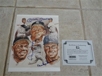 "Autographed Mickey Mantle, Willie Mays, and Duke Snider 8"" x 10"" color photo with COA"