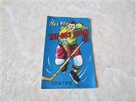 "1950s Hockey Tat-oos Book Made in Japan 3.5"" x 2"""
