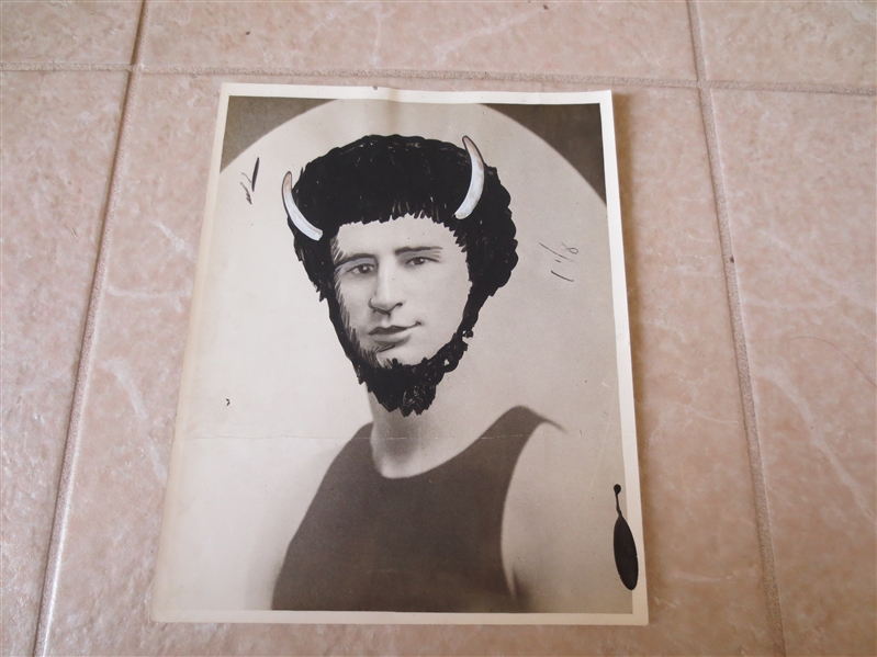 1926 American Basketball League Type I Wire Photo Lewis Buffalo Bisons RARE 8 x 10