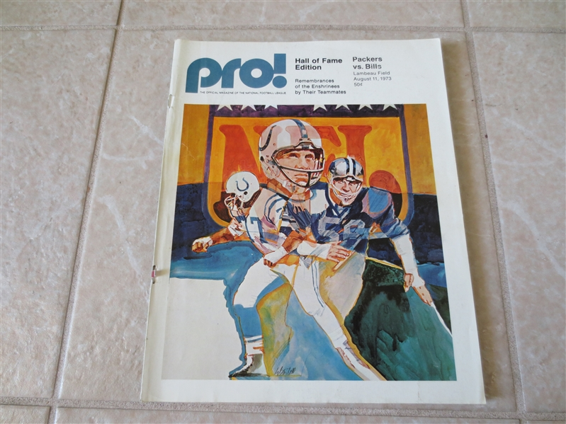 Autographed John Brockington & Chester Marcol 1973 football program O.J. Simpson plays