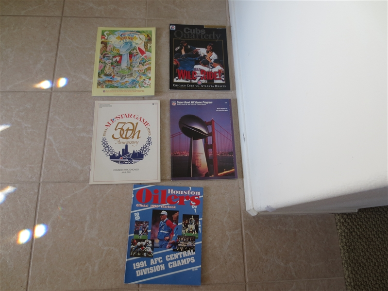 Assorted programs & publications: Super Bowl, All Star Game, plus more
