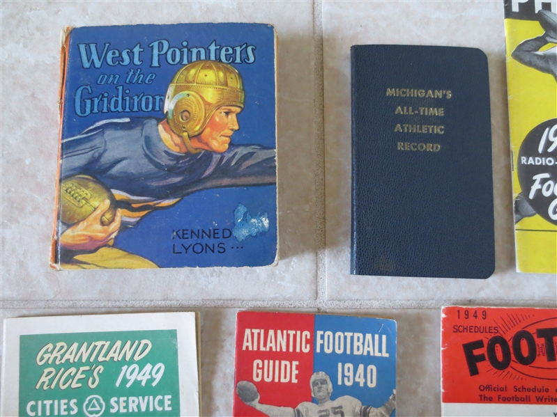 (8) 1930's and 1940's Football Guides and Books