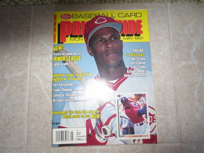 1991 Sports Collectors Digest Baseball Card Price Guide Monthly Magazine with card inserts
