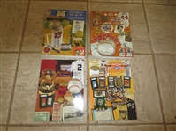 (4) Huggins and Scott Sports Memorabilia Auction Catalogs from 2007, 2008, 2009, and 2010