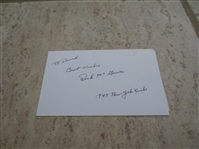 "Autographed Dick McGuire 1949 New York Knicks basketball 3"" x 5"" card"