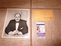 Autographed Buzzie Bavasi hotel survey Hall of Fame died 2008 with JSA Certificate