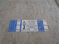 1973 ABA Basketball Playoff Ticket San Diego Conquistadors Game 3