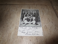 1906 Brockport Normal Basketball Team postcard signed and mailed by one of the players!