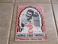 1938 Opening Day football program Washington Redskins at Philadelphia Eagles