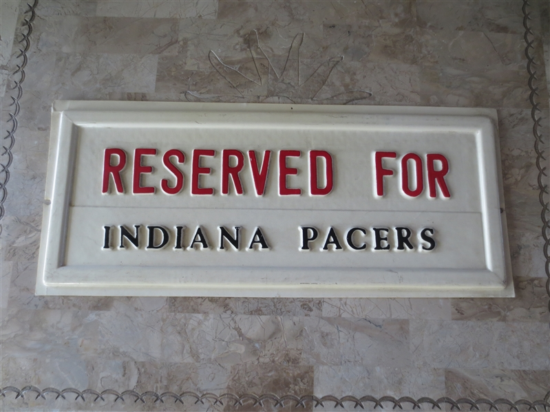 1970's ABA Indiana Pacers Basketball Plastic Sign  8 x 19