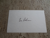 "Autographed Les Rothman 3"" x 5"" card Pro basketball player in ABL and NBL"