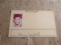 "Autographed Harry Boykoff 3"" x 5"" card Pro basketball player with Boston Celtics and more"