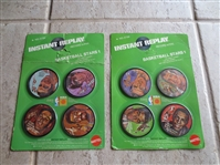 (2) Unopened 1971 Mattel Instant Replay Basketball Disc packages---8 discs--all superstars