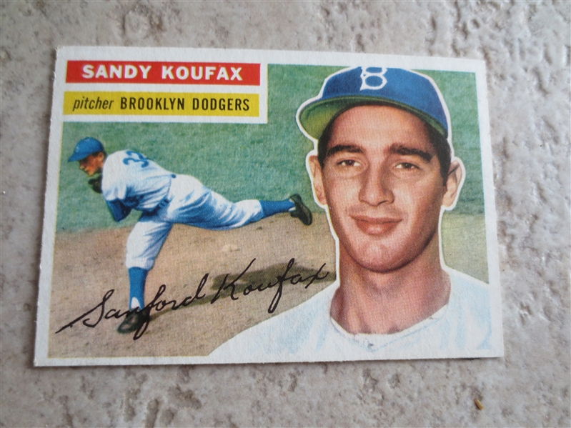 1956 Topps Sandy Koufax baseball card #79 in affordable condition