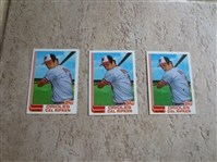 (3) 1982 Topps Traded Cal Ripken rookie baseball cards #98T in super condition      2