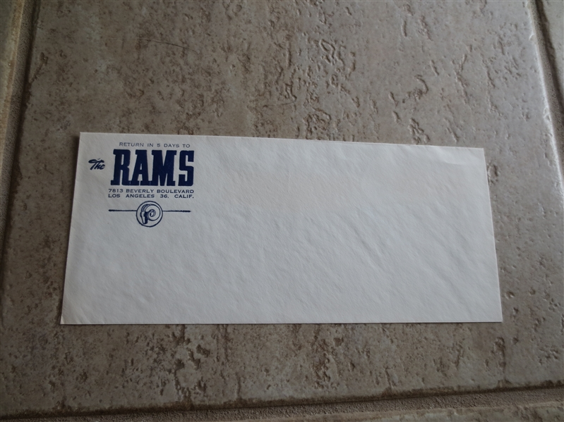1950's Los Angeles Rams mailing envelope RARE!