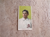 1909-11 T206 Chief Bender Portrait baseball card with Piedmont 150 subjects Factory 25 back