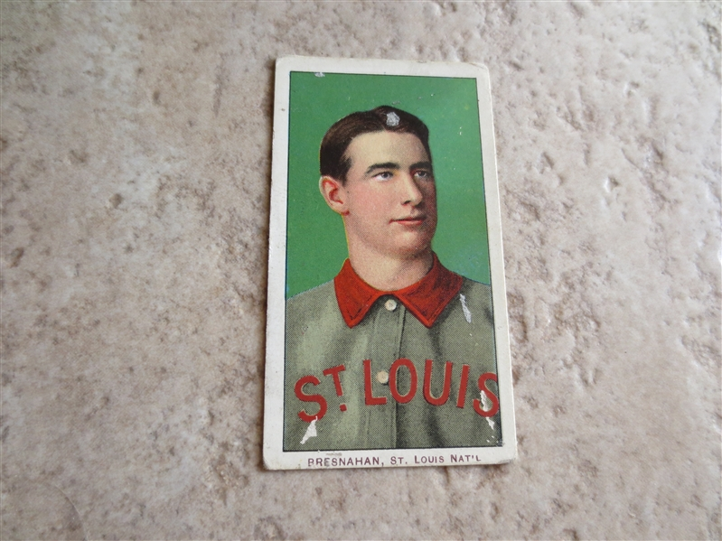1909-11 T206 Roger Bresnahan Portrait baseball card with Piedmont 150 subjects Factory 25 back HOFer