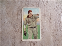 1909-11 T206 Rube Waddell throwing baseball card with Sweet Caporal 350 subjects Factory 30 back
