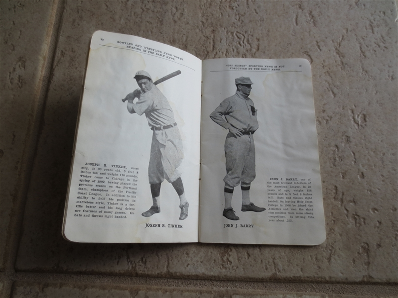 1910 World Series Baseball Program/Yearbook by Chicago Daily News Philadelphia Athletics vs. Chicago Cubs  50 pages long
